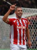 Jonathan Walters de Stoke City celebra su puntuaci...