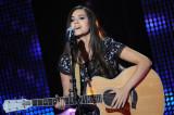 La cantante francesa Joyce Jonathan en el escenari...