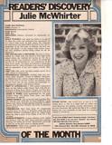 Julie McWhirter Recorte original Foto de la revist...