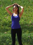 Kara Royster en Medias en la clase de yoga