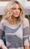 Kate Beckinsale Deportes peinado rubio en el conju...