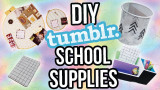 Regreso a la escuela DIY School Supplies Tumblr