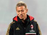 Keisuke Honda del AC Milan antes de la Serie A par...
