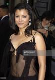 Kelly Hu durante las llegadas de X2 XMen United Pr...