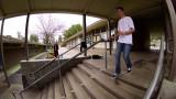 Sesión de escalera en un mojado