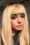 Kelsey Calemine recta peluca rubia rubia de miel