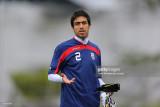 Khosro Heydari durante la sesión de entrenamiento...