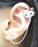 Encontrado Hello Kitty Rhinestone doble Piercing P...