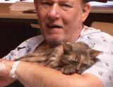 Katrina sobreviviente y el dueño de Miss Kitty mue...