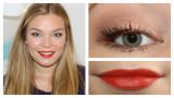 Tutorial de maquillaje de otoño Bright Orange Lips...