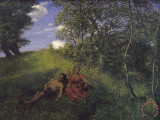Pintura de la siesta de Hans Thoma Siesta Impresio...