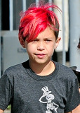 Landon Barker Foto Celebrity Kids con cabello de c...