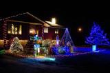 Las luces de la casa de Landon Holmes en 2010