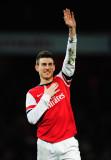 Laurent Koscielny, del Arsenal, celebra en el